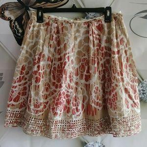 Elie Tahari Womens Skirt size 4 Cutout weave hem